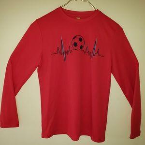 ⭐5 for $25 ~ Performance Soccer Themed shirt
